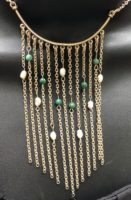Waterfall Pearl & Turquoise Necklace