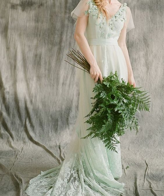 Green Wedding Gowns That Will Have You Swooning With Mother Nature