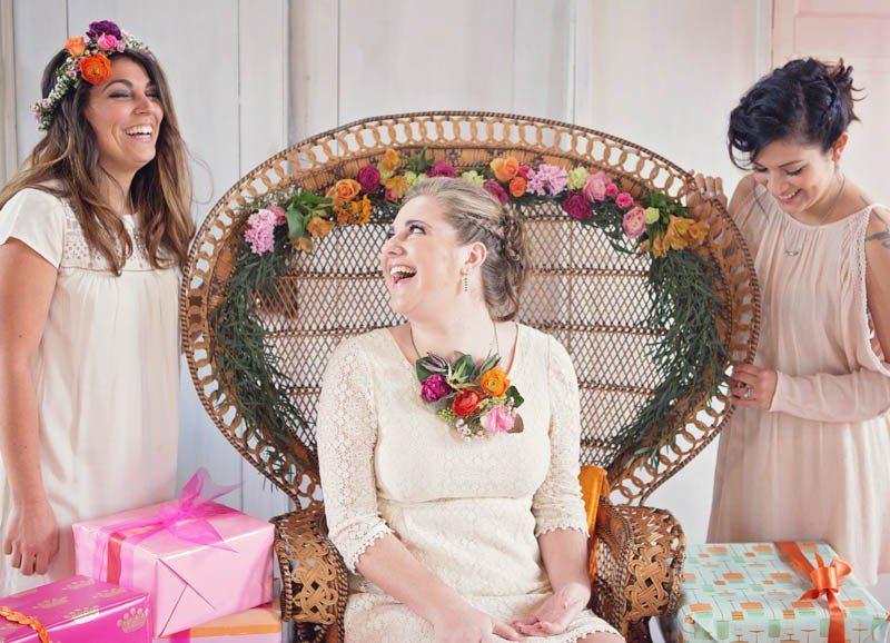 TURN A TRADITIONAL BRIDAL SHOWER ON ITS HEAD WITH THESE FUN & FUNKY IDEAS