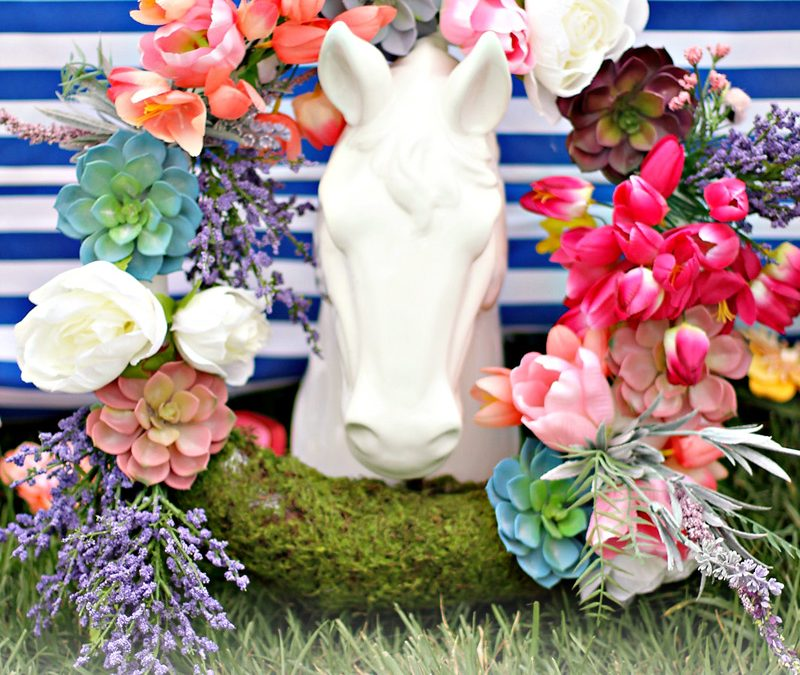A Vibrant & Colorful Kentucky Derby Garden Party