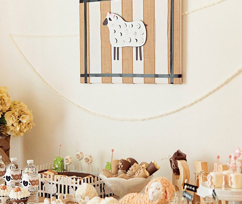 Darling Little Lamb Baa Baa Baptism & Birthday Party