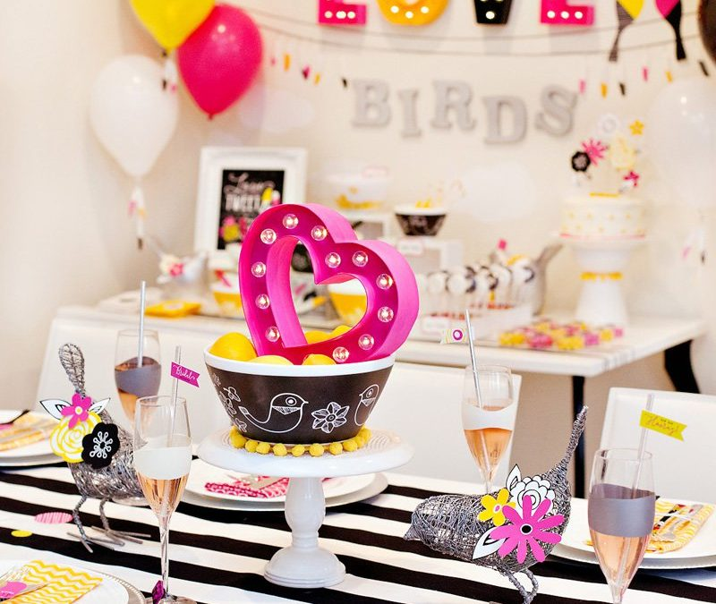 "Modern ""Love Birds"" Bridal Shower + GIVEAWAY & Printables"
