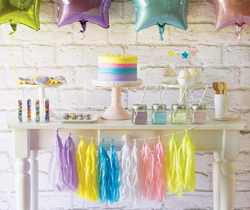 {Magical} Pastel Rainbow Unicorn Birthday Party